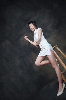 Cheongsam, Smile, Artistic Photos, Woman, Model, Young