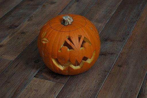 Halloween, Pumpkin, Autumn, Orange, Face, Hollow Out