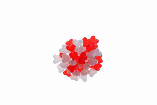 Balloon, Heart, Red, White, Love, Romantic, Wedding Day