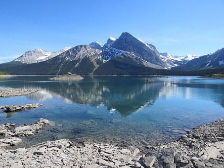 Upper Kananaskis Lake, Alberta, Canada, Reflection