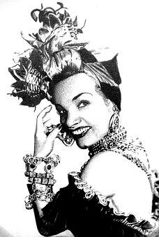 Carmen Miranda, Singer, Brasileira, Famous, Roreli