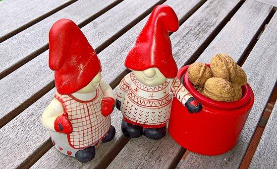 Christmas Couple Wichtel, Tomte, Swedish Design