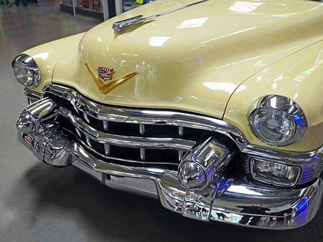 Straßenkreuzer, Chrome, Cadillac, Usa, Grille, Bumper