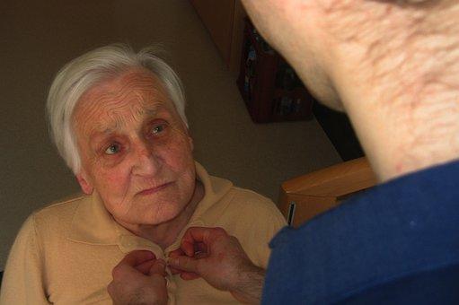Civilian Service, Care, Dementia, Woman, Old, Age