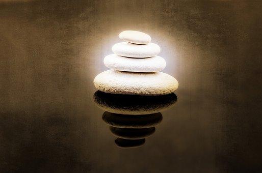 Stone, Zen, White, Spa, Rock, Alternative, Close-up