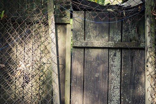 Door, Wooden Door, Fence, Atmosphere, Architecture