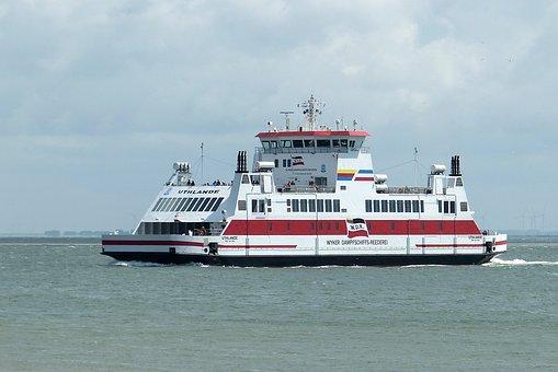 Ferry, Dagebüll, Föhr, Wyk, Ship, North Sea, Holiday