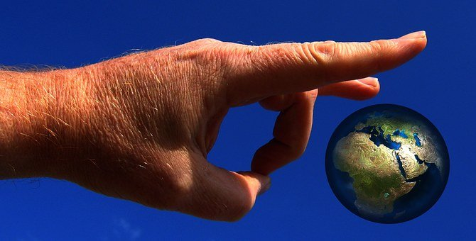 Hand, Globe, World, Earth, Flick, Flick Off, Apocalypse