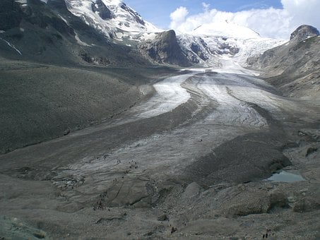Glacier, Cold, Alpine, Mountains, Pasterze Glacier