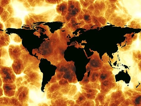 Fire, Explosion, Global, Globalization, Globe, Trade