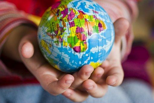 Hand, World, Ball, Keep, Child, Earth, Globe