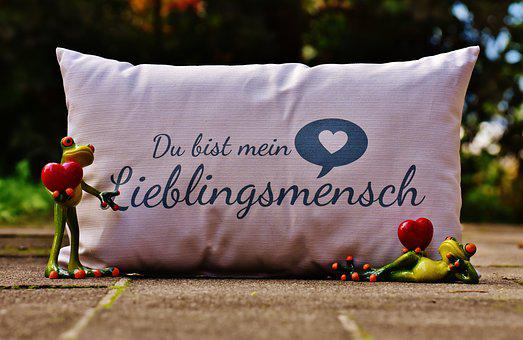 Pillow, Love, Heart, Valentine's Day, Greeting Card