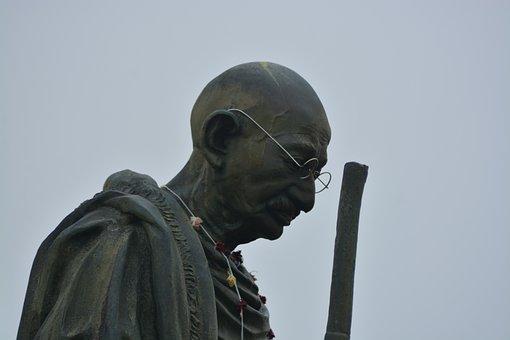 Ghandi, Statue, Indian, Gandhi, Leader, Landmark, Man