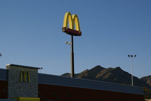 Mcdonalds, Wendover, Nevada, Usa, Sign, America, Symbol