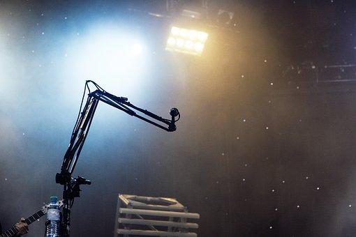 Microphone, Festival, Live, Sound, Amplifier, Bass