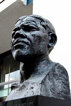 Nelson Mandela, Statue, London, Monument, Revolutionary