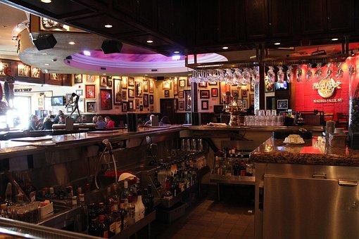 Hard Rock Café, Bar, Restaurant, Pub, Usa, Erie Lake