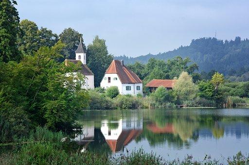 Landscape, Monastery, Lake, Church, Nature, Sky, Rest