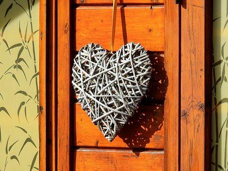 Heart, Home, Wood, Love, Romantic, Romance, Wooden Door
