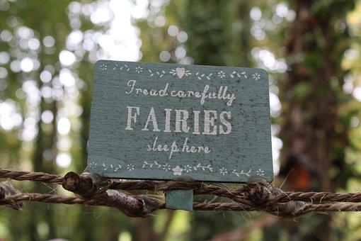 Sign, Fairies, Words, Rustik
