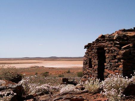 Stone House, Desert, Heat, Salt Lake, Outdoor, Dry