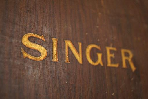 Sewing Machine, Antique, Global Brand, Subtitle, Singer