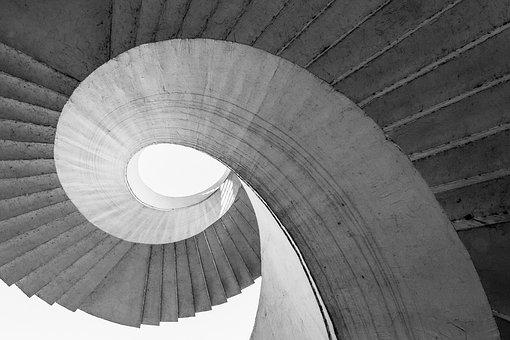 Stairs, Architecture, Secret, Curve, Round, Detail Of