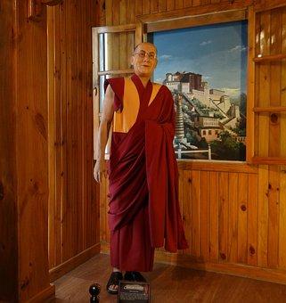 Dalai Lama, Statue, Wax, Leader, Spiritual, Buddhism
