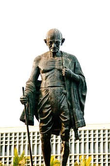 Mahatma Gandhi, Statue, Bronze, India, Indian, History