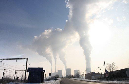 Pollution, Smoke, Stack, Emissions, Industries, Steam
