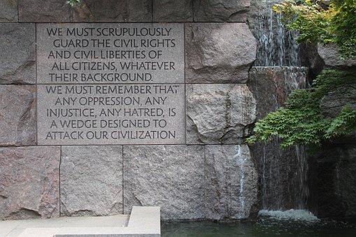 Fdr, Memorial, Texture, Waterfall, Rock, Stone