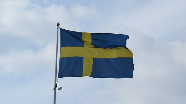 Sweden, Flag, Blue-and-yellow, Swedish Flag, Cloud