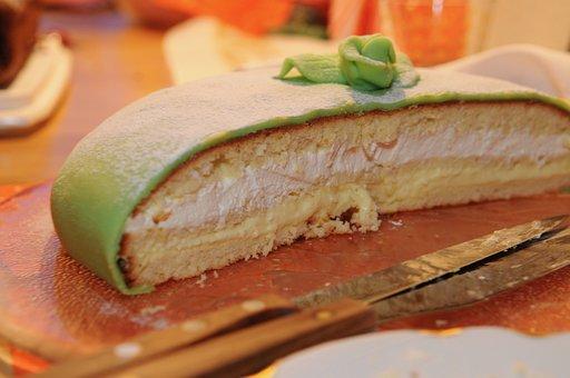 Cake, Swedish Pie, Sweet Food, Dessert, Marzipan