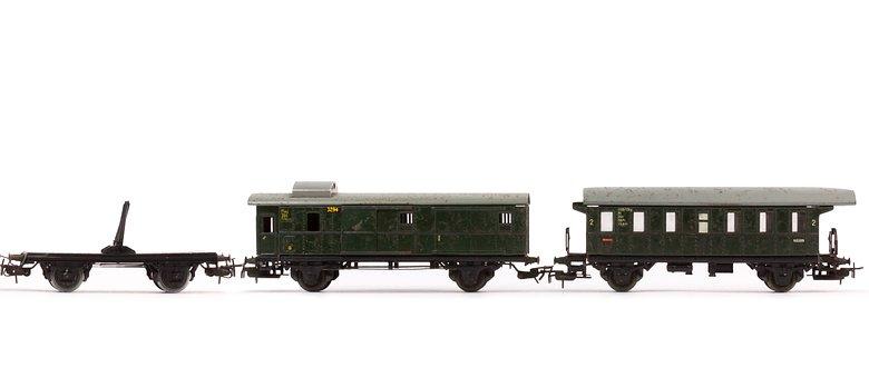 Train, Long Wooden Car, Passenger Train, Goods Wagons