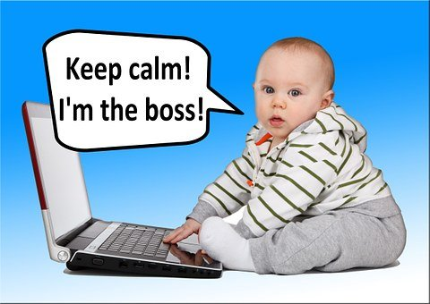 Baby, Control, Face, View, Boss, Notebook, Computer