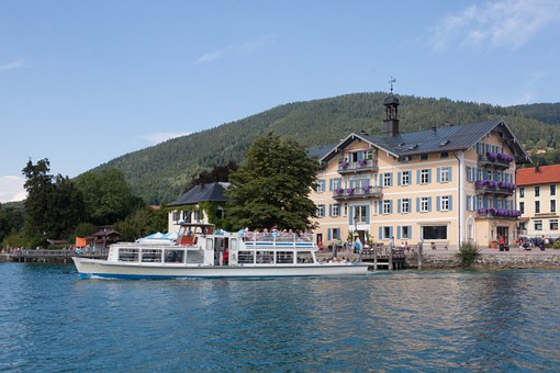 Web, Promenade, Town Hall, Tegernsee, Electric Boat