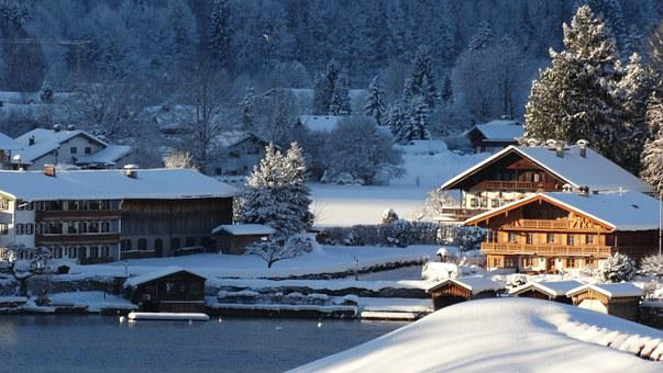 Tegernsee, Water, Lake, Winter, Snow, Home, Recovery