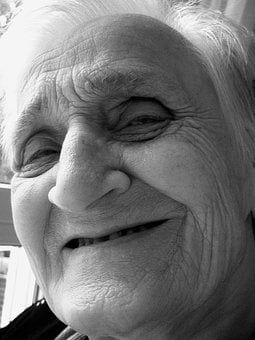Woman, Face, Smile, Old, Old Age, Grandma, Dementia