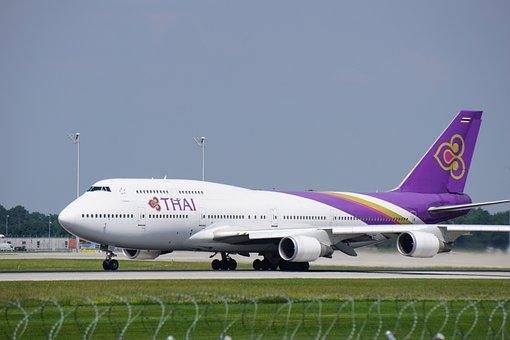 Aircraft, Start, Thailand, Holidays, Vacations, Flying