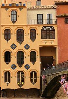 Girona, Flower Festival, Building, Modernist
