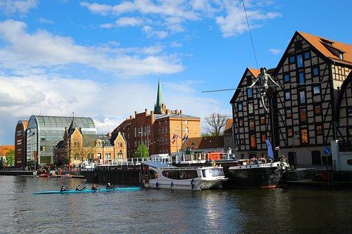 Bydgoszcz, Equilibrist, Landscape, Water, Spring