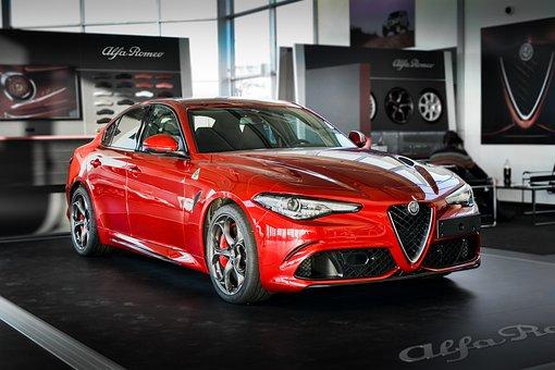 Alfa Romeo, Red, Car, Italian, Vehicle, Italy