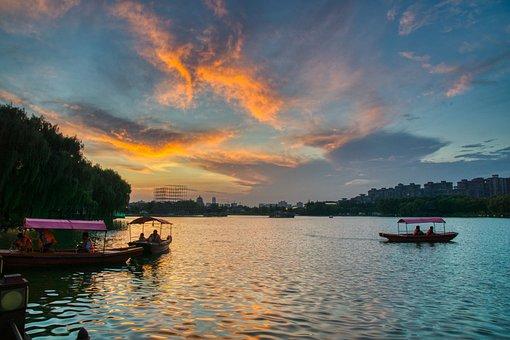 China, Xi'an, Tang Paradise, Travel, Lake