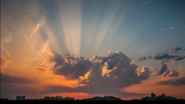 Jacobsladder, Sunset, Evening, Vote, Evening Sky