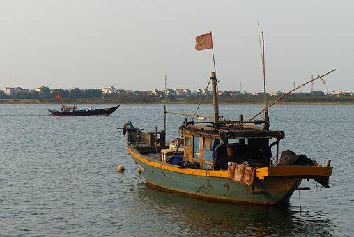 Vietnam, Boat, Fishing, Sea, River