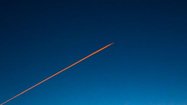 The Plane, Streak, Aircraft, Sky, Flying, Blue, Flight