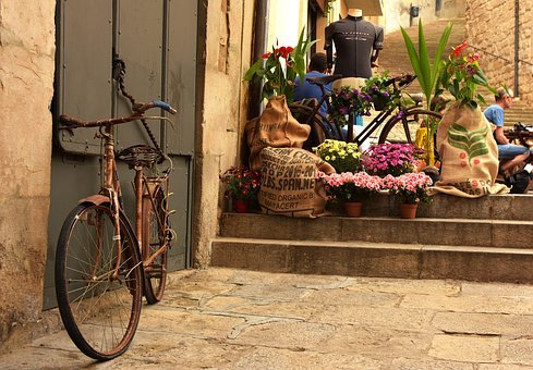 Girona, Vintage, Flower Festival, Street, Classic