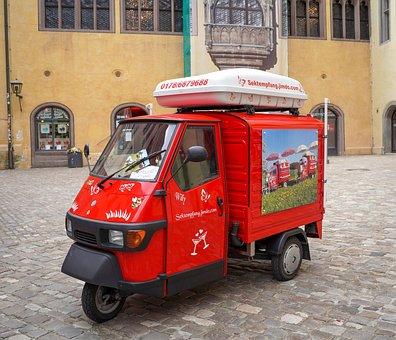 Ape, Tricycle, Auto, Funny, Italy, Piaggio, Nostalgic