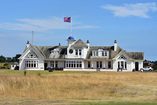Scotland, Clubhouse, Golf, Golf Course, Building