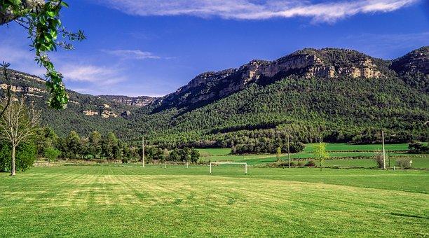 Football, Football Field, Sport, Grass, Lawn